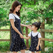 купить Mom and Daughter Dresses Family Matching Mother Daughter Clothes Floral Dress mommy and me clothes Family Look Mama Bohemian по цене 857.29 рублей