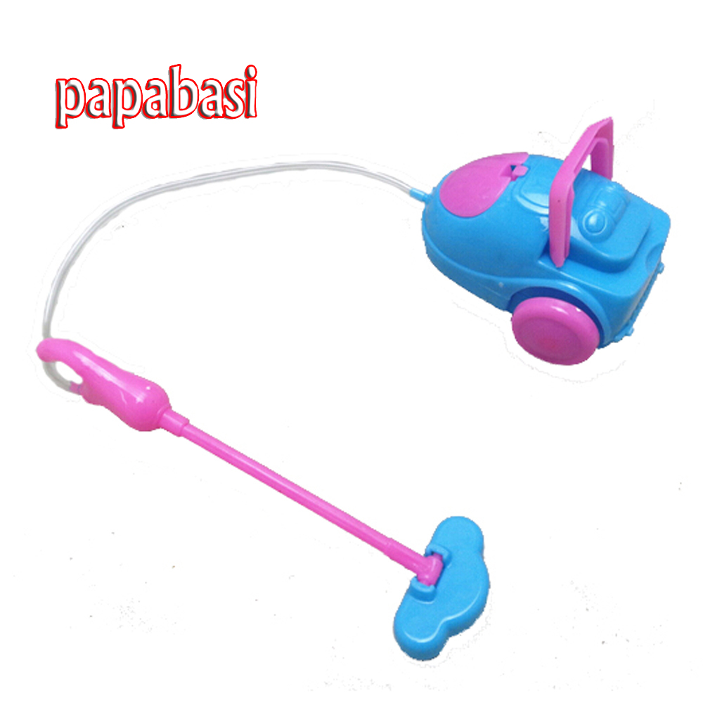 Papabasi 1pcs mix color Super cute Vacuum Cleaner Doll Furniture For barbie doll 1/6 Doll Baby Toys