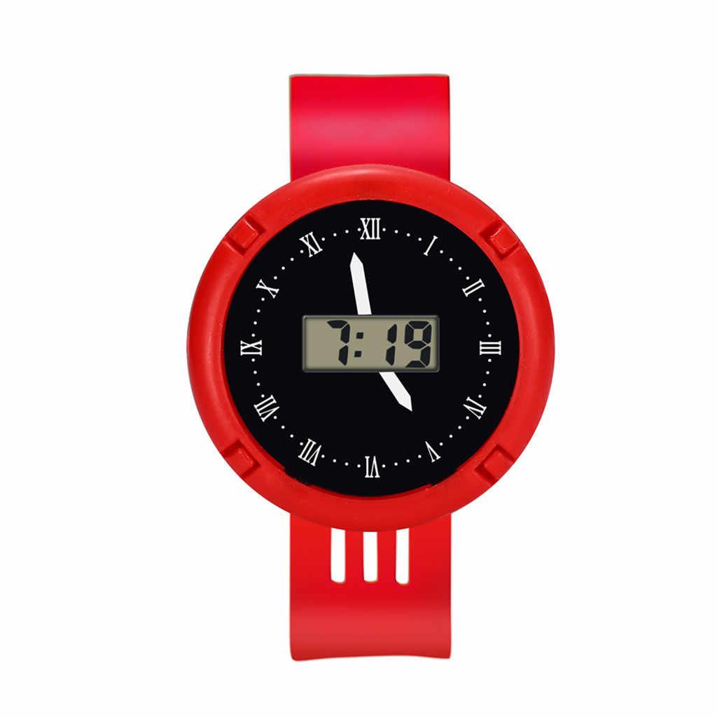 子供腕時計ガールズアナログデジタルスポーツ Led 電子 30 メートル防水腕時計新シンプルな c0603