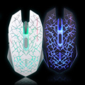 Azzor recargable wireless laser gaming mouse ratones 2400 dpi 2.4g gamer fps silencio construir-en la batería de litio de alta rendimiento