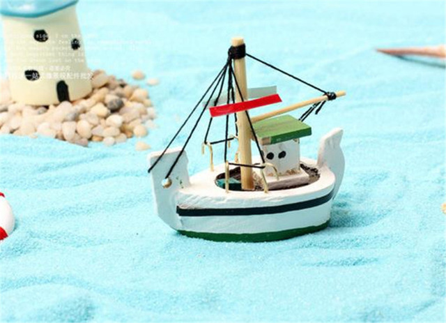 New Years Children Gift Kids Toys Anime Figure Mini Totoro Fairy Tale Little Fishing Boat Sailing