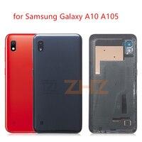 Do SAMSUNG Galaxy A10 A105 tylna pokrywa baterii drzwi tylna szklana obudowa Case wymień na SAMSUNG A10 pokrywa baterii w Obudowy do telefonów komórkowych od Telefony komórkowe i telekomunikacja na