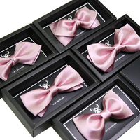 Fashion pink bow tie Luxury Wedding party Groom mens ties Butterfly Neck Bowtie ties for men shirt Apparel Accessories