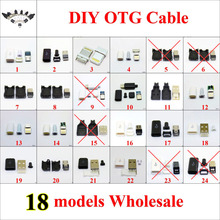 chenghaoran type c usb plug male connector black white welding data otg line interface diy data cable accessories type c cltgxdd 18models Micro USB 5Pin 8p 4p Male connector plug Black/White welding Data OTG line interface DIY data cable accessories