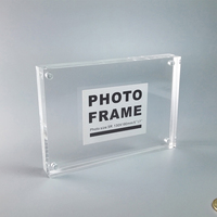 Pack Of 10 Units A5 Magnetic Acrylic Photo Block Frames Perfect For Displaying A5 Sign