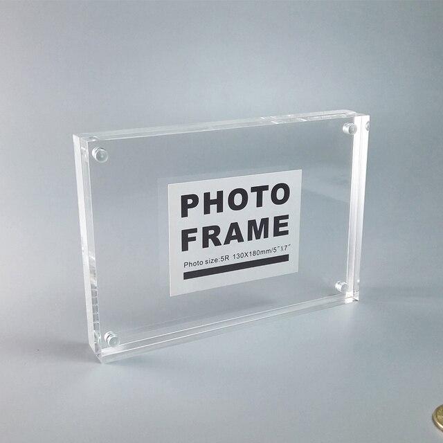 Paquete de 10 unidades) A5 acrílico magnética bloque marcos perfecto ...