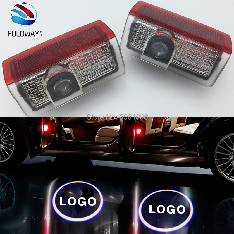 2PCS For Mercedes Benz W205 C E B Class 2015-2017 LED Welcome Car Door Courtesy Shadow Logo Lights Projector Laser Ghost Shadow