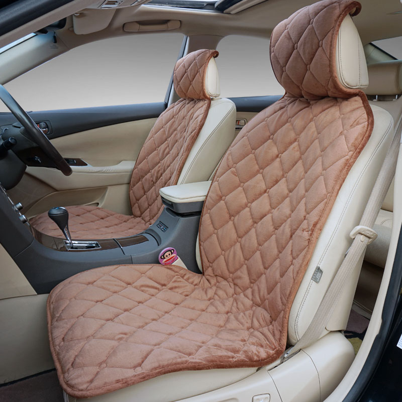 Fashion Automobiles Seat Covers Fit Car Front Seat Universal For Most Cars Velvet Fabrics Car Cushion Cover Protect accessories