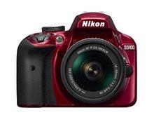 Nikon D3400 24.2 MP Digital SLR Red Camera Body & AF-P DX 18-55mm Lens Kit