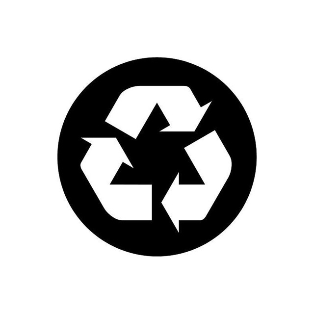 9595cm Recycling Symbol Personalized Car Stickers Funny Vinyl