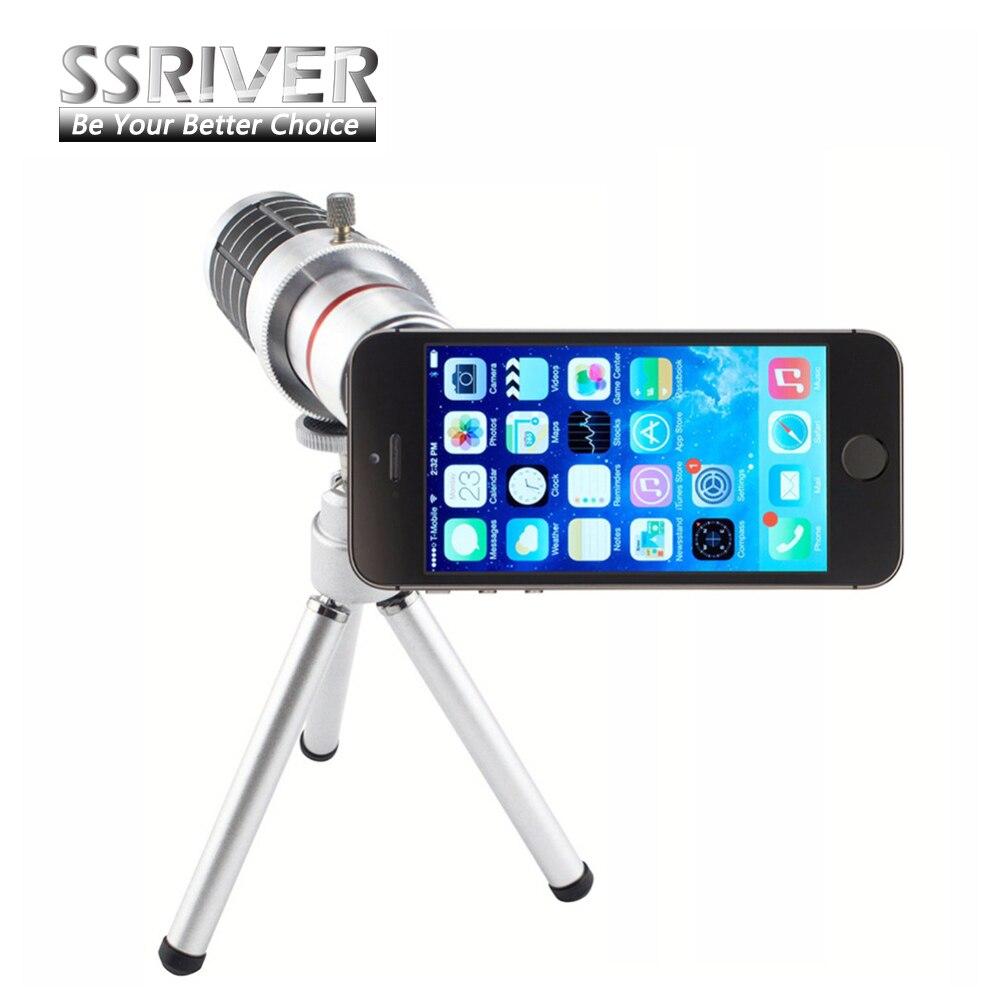 Ssriver 12x оптический зум камеры телескопа объектив + штатив + чехол обложка телефон 12x зум-объектив для <font><b>iphone</b></font> 5 5s