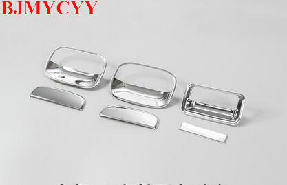 BJMYCYY 6PCS Car Styling High Quality Rear Trunk ABS Door Handle Cover Sticker For Suzuki Jimny Car Accessories Decoration for nissan xterra paladin 2002 2017 rear trunk security shield cargo cover high quality car trunk shade security cover