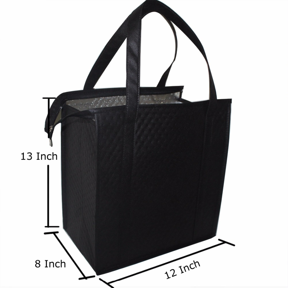 100pcs wholesale Custom Insulated Reusable Shopping Bag Grocery Tote Bags  for wine food luxury bag-in Cooler Bags from Luggage   Bags on  Aliexpress.com ... 34b650e78