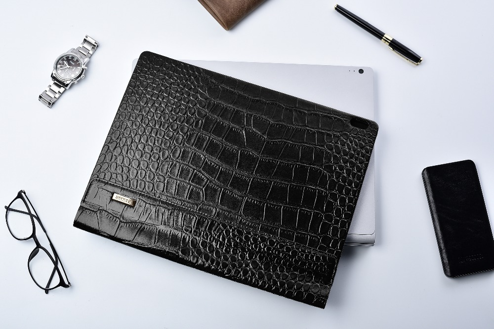 (1PC) icarer Protective Cover For Microsoft 2018 Surface Book 2 13.5 Crocodile Design Tablet Laptop Sleeve Case For Book 2 genuine leather case for 2017 microsoft surface book 13 5 tablet laptop sleeve creative design for 2015 surface book 13 5