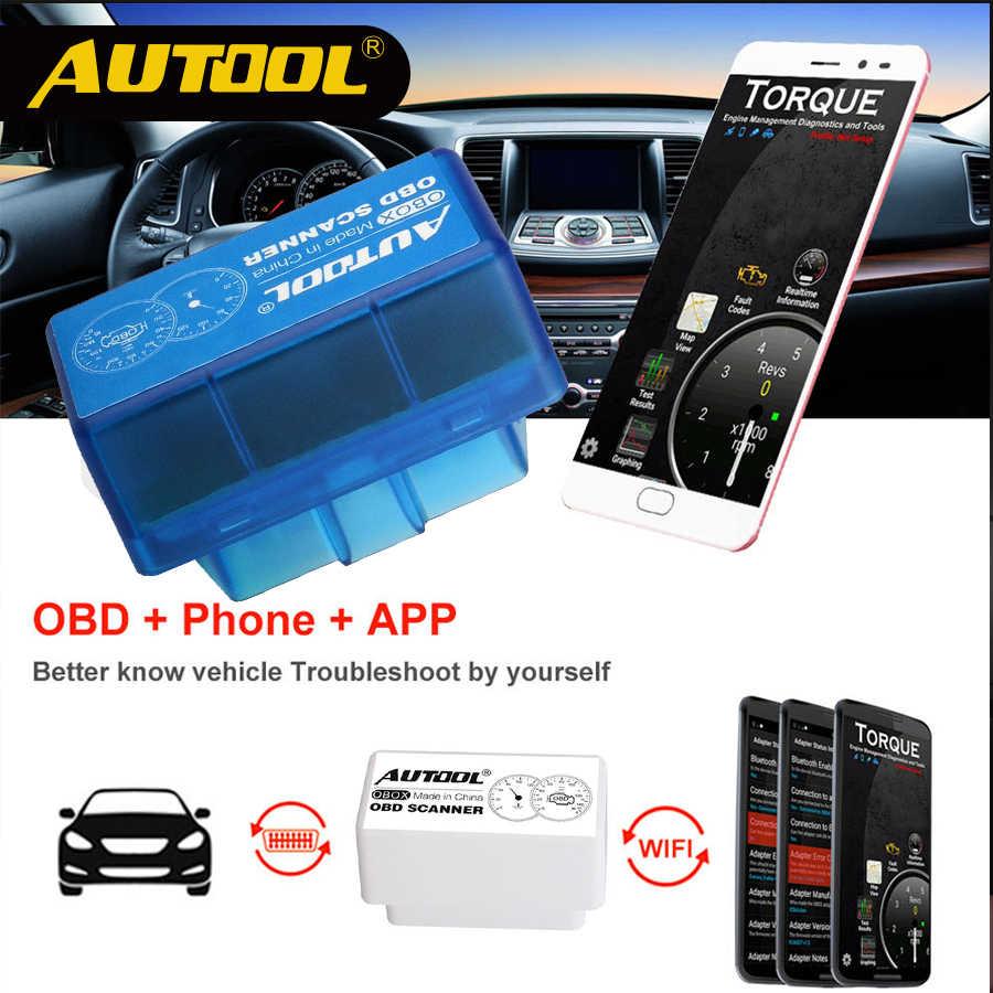 ELM327 WiFi//Bluetooth 2 II Car Vehicle Diagnostic Scanner For Smartphone