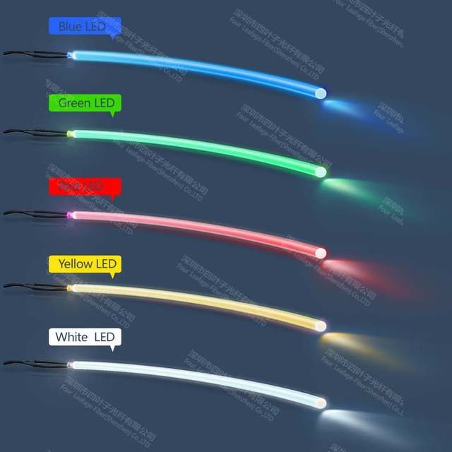 Us 12 85 Factory 18mm Plastic Side Glow Fiber Optic Fibre Optical Lighting For Landscape Building Body Contour Wall In Lights From