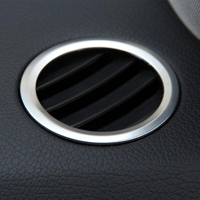 Prix pour 2 pcs Chrome Intérieur AC Air Vent Outlet Cover Version Décoration Pour Mercedes Benz GLK X204 ML W124 GL X164 Accessoires Car Styling