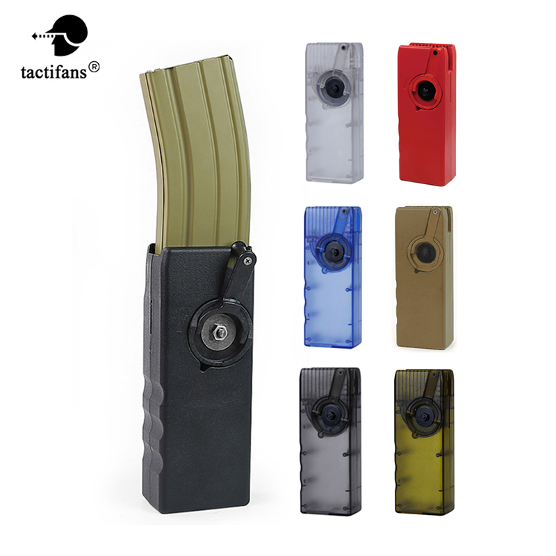 Tactical Airsoft Paintball 1000rd Rounds Plastic BB Speed loader M4 Hand Crank Military Fast BB Loader for AEG/EBB Magazine цены