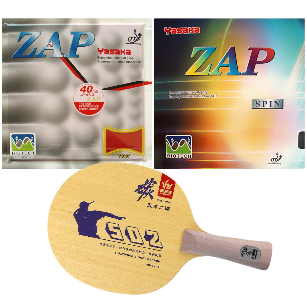 Pro Table Tennis PingPong Combo Racket  Sanwei 502E with Yasaka ZAP 40mm BIOTECH NO ITTF  Long Shakehand FL pro combo table tennis racket hrt black crystal with yasaka era 40mm no ittf and ktl pro xp red dragon long shakehand fl