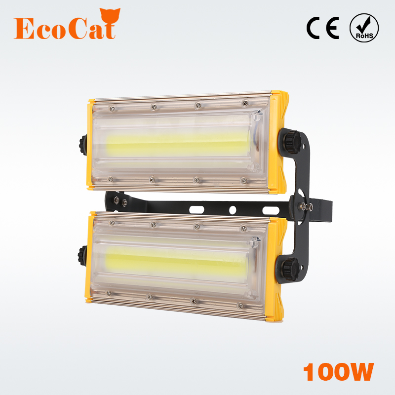 LED floodlight 100W IP65 Waterproof flood light AC 220V 240V 230V spotlight high power lighting for