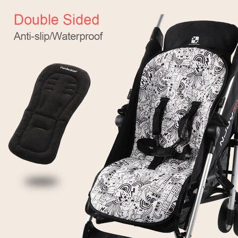 assento carrinho de bebe almofada dupla face a prova d agua forro do assento universal