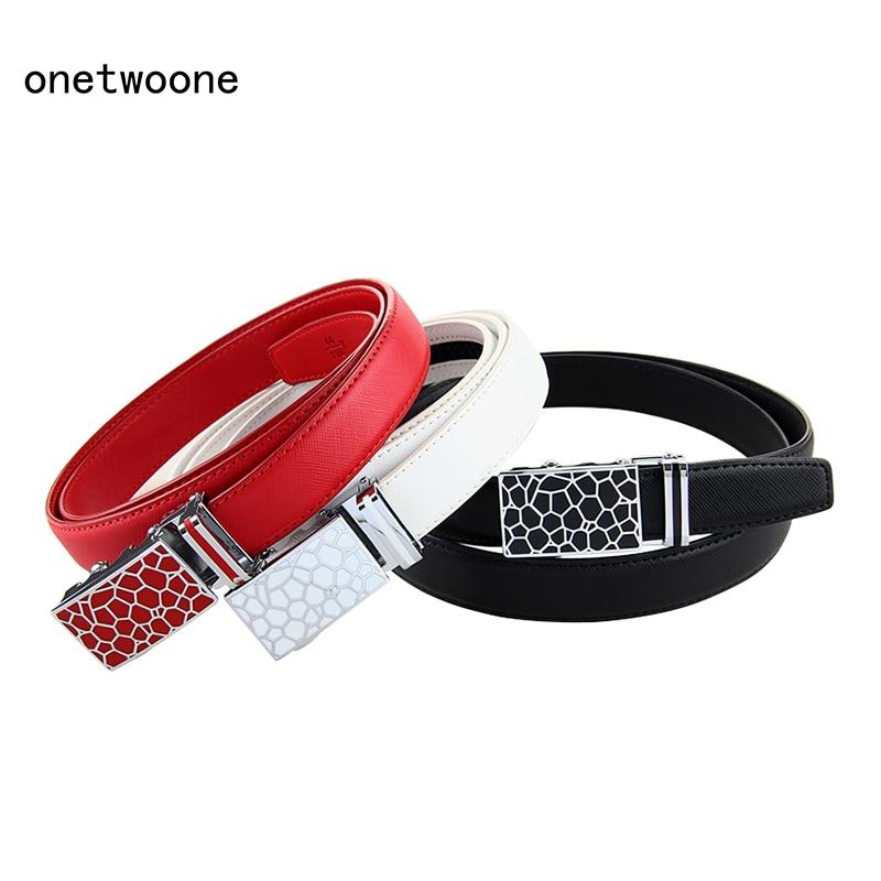 New Fashion Women   Belts   Female Genuine Leather Automatic   Belts   Best Selling Waist   belts   Girls Students   Belts   125cm 130cm Length