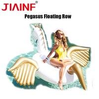 JIAINF 2018 новый гигантский ездовый Pegasus надувные матрасы для плавания бассейн вечерние пляж взрослых детские надувные игрушки кольцо для зама