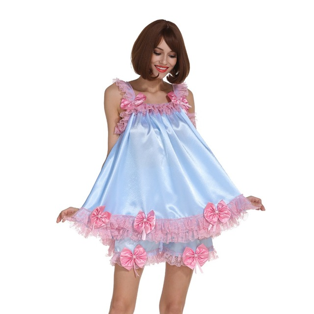 Sissy Girl Pretty Bow Bed Outfit Uniform Costume Cosplay