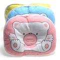 3 Cores Suaves Apoio Do Pescoço Do Bebê Impressão Urso Forma Oval Cama Travesseiro Anti Rolo, algodão Infantil Travesseiro De Enfermagem Travesseiro Anti Rolo