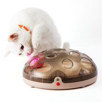 Pet Cat Toy Round Disk Magnetic Suspension Electric Funny for Training Playing LBShipping