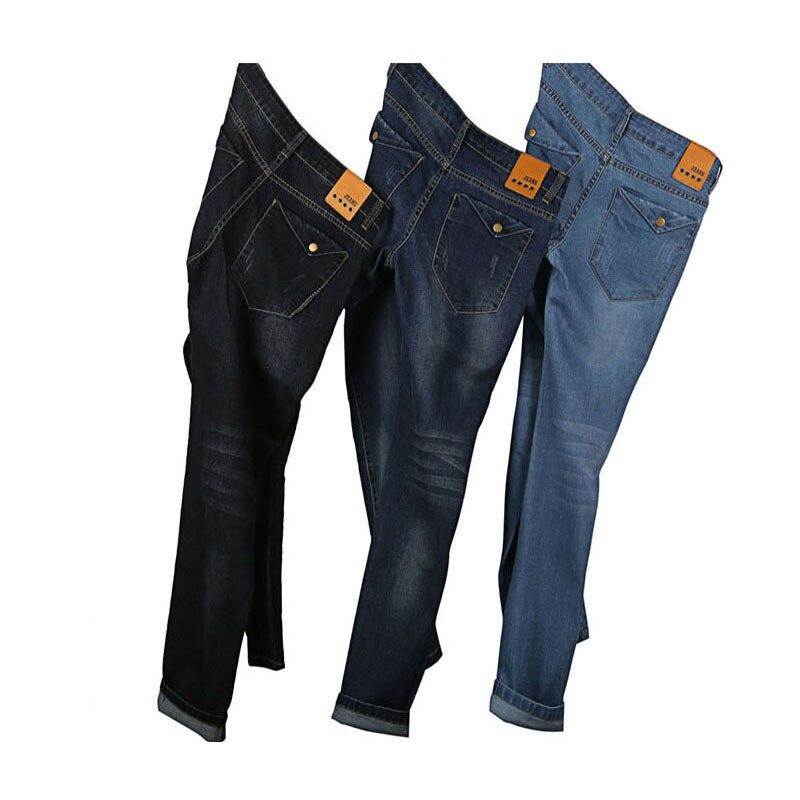 ФОТО Mens Fashion Designer Plus Size Jeans Men's Stretch Slim Fit Denim Jeans Trousers Pants 40 42 44 46 48