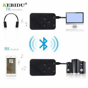 Image 4 - Kebidu 3.5mm Audio sans fil Bluetooth émetteur récepteur adaptateur 2 en 1 stéréo Audio musique adaptateur câble pour TV voiture haut parleur