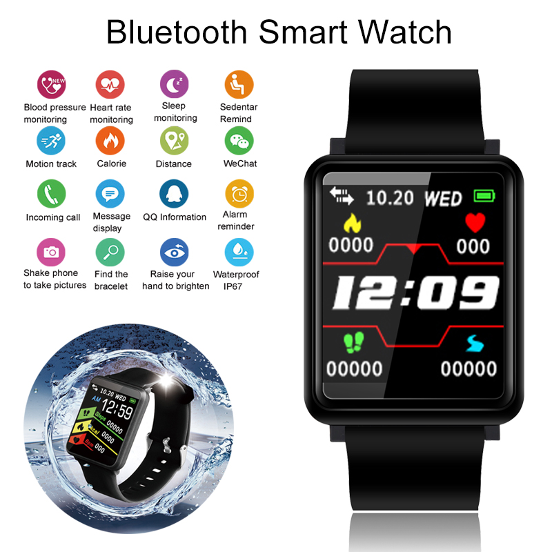 חכם שעון לחץ דם פעילות Tracker Smartwatch גברים להתחבר שעון ספורט כושר נשים לביש התקני עבור IOS אנדרואיד