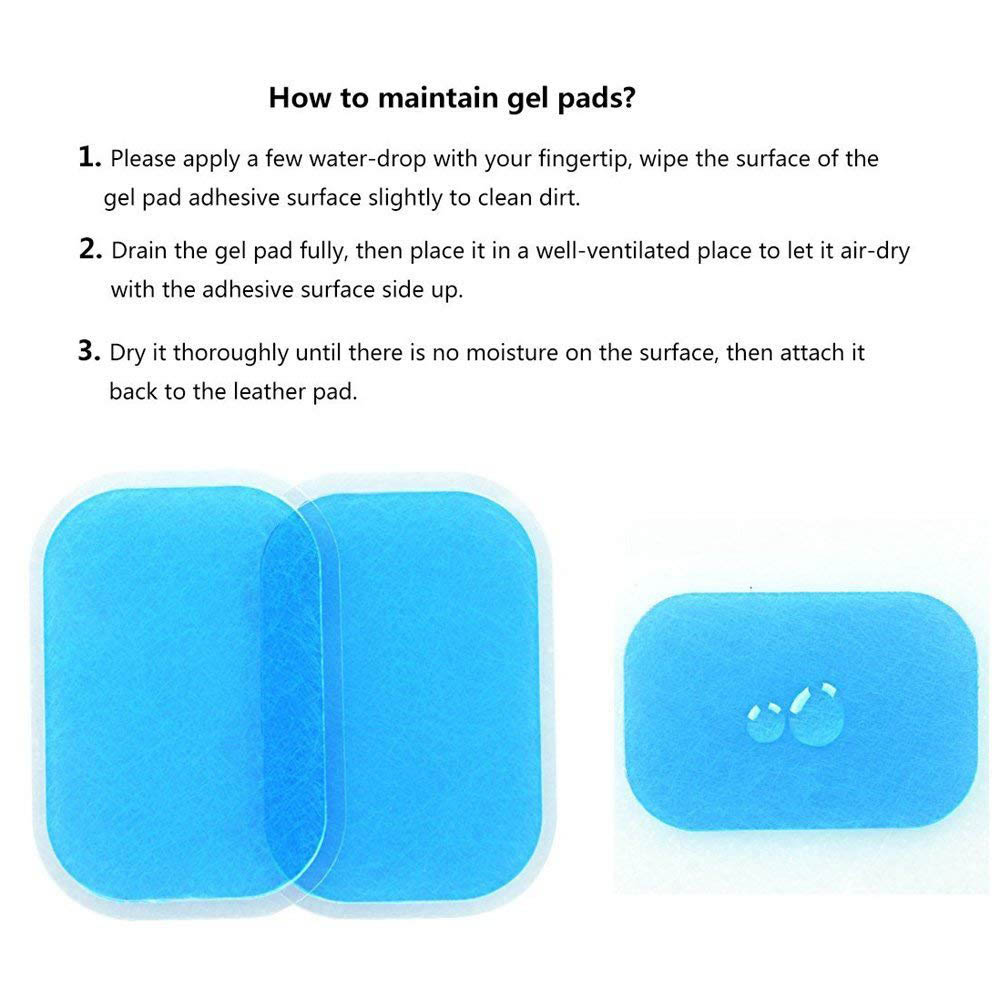 14Pcs  Replacement Gel Pads Sheet Abdominal Belt Toning Muscle Toner ABS Stimulator Hydrogel Pads Sticker AB Trainer Accessories (3)