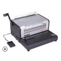 Máquina de encuadernación de Peine eléctrico tamaño A4 EB-30 punzonadora Eléctrica 21 agujeros clips de anillo de goma máquina de encuadernación de doble uso