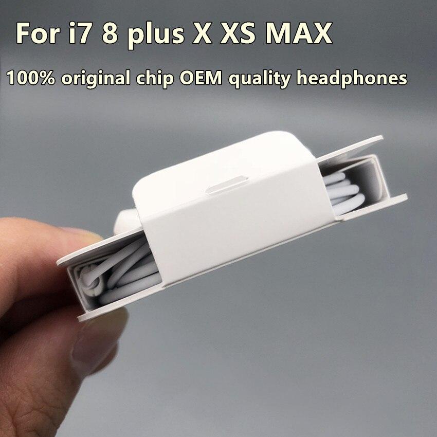 10 ピース/ロット 100% 本物のオリジナルチップ oem 品質耳ヘッドフォンイヤホン用のリモートマイクと foxconn i7 8 x xs携帯電話 アクセサリバンドル   -