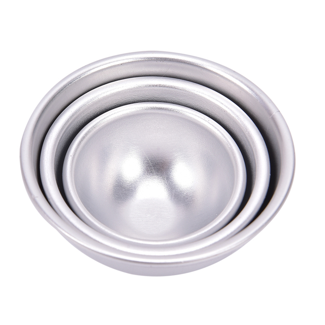 2Pcs 3D Ball Sphere Shape Bath Bombs Creative Mold Metal Aluminum Alloy Bath Bomb Mold DIY Bathing Tool Accessories 3