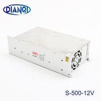 input 220v 110V power supply switch 500W 12v 40A ac dc converter S 500w 12v variable voltage regulator led driver S 500 12