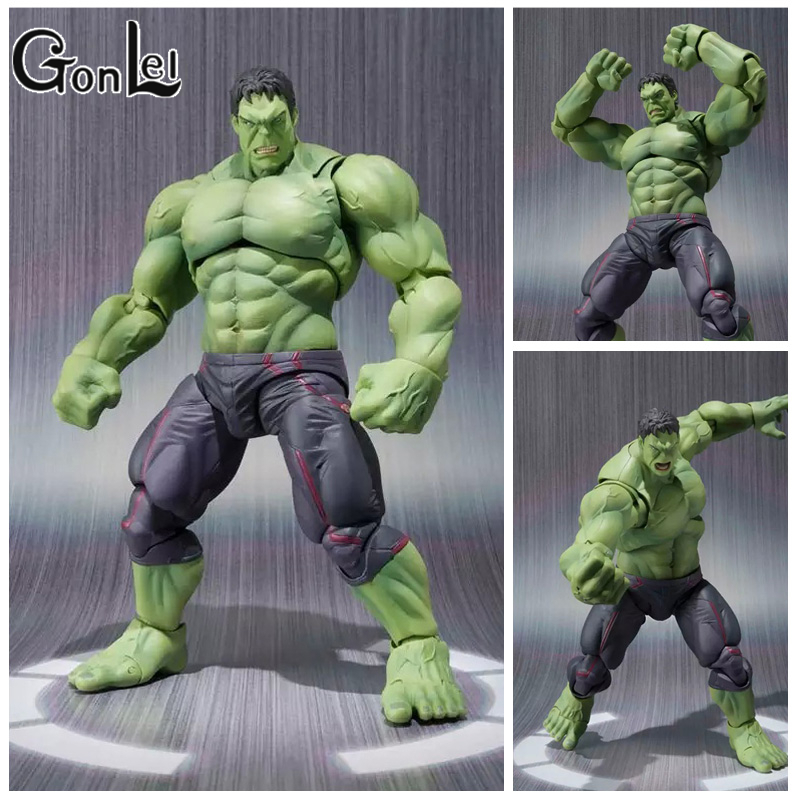 GonLeI NEW hot 22cm avengers Super hero hulk movable action figure toys Christmas gift doll haoke15 S101 2017 new avengers super hero iron man hulk toys with led light pvc action figure model toys kids halloween gift