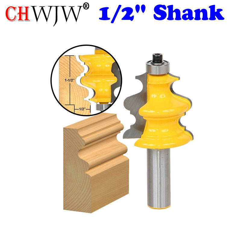 1PC Architectural Molding Router Bit 1/2 Shank Line knife Woodworking cutter Tenon Cutter for Woodworking Tools 10 bit architectural molding router bit