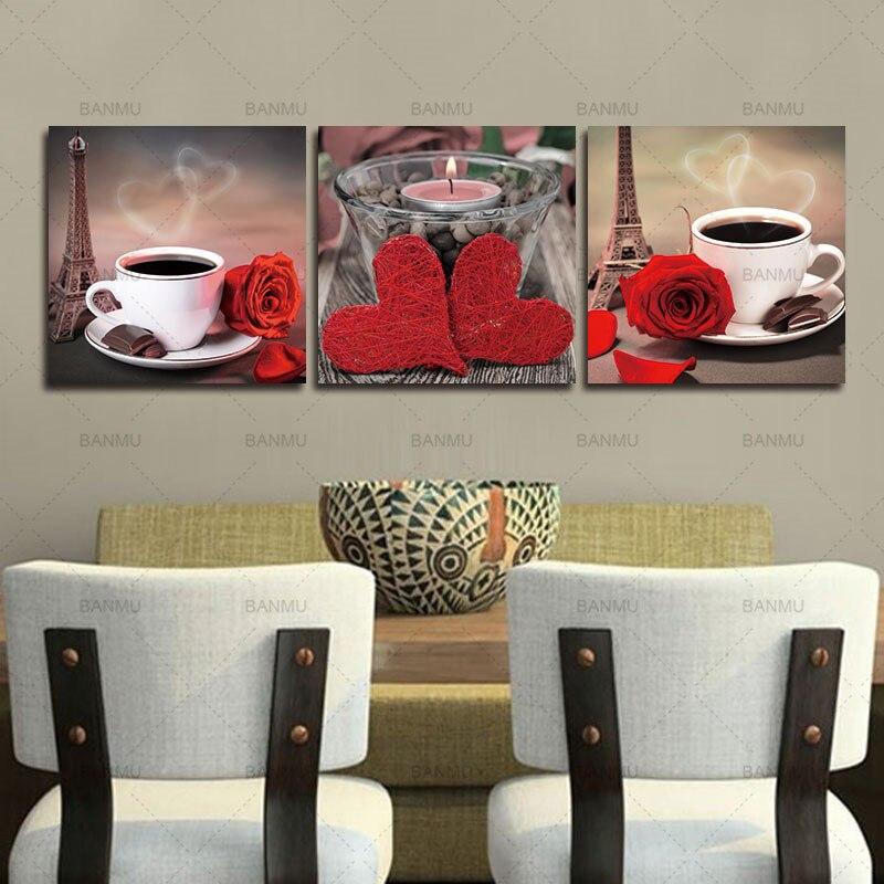 Платно за картини 3 части Модулни - Декор за дома - Снимка 2