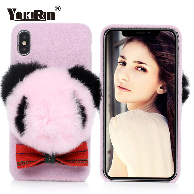 Fluffy Hair Fuzzy Phone Cases For iPhone X/XS/XS MAX 7 8 6