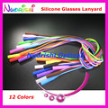 5pcs L609 12 Colors Round Head Design High Quality Elastic Silicone Anti-Slip Eyeglass Sunglasses Long Cords Lanyard Free Shippi