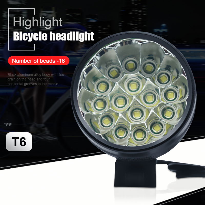 Newest 40000 Lumen 16 T6 LEDs Bicycle Lamp front Headlight Riding Cycling Bike Front Light for