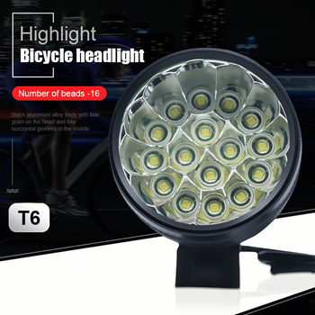 Newest 40000 Lumen 16*T6 LEDs Bicycle Lamp front Headlight Riding Cycling Bike Front Light for Outdoor Night Riding Camping