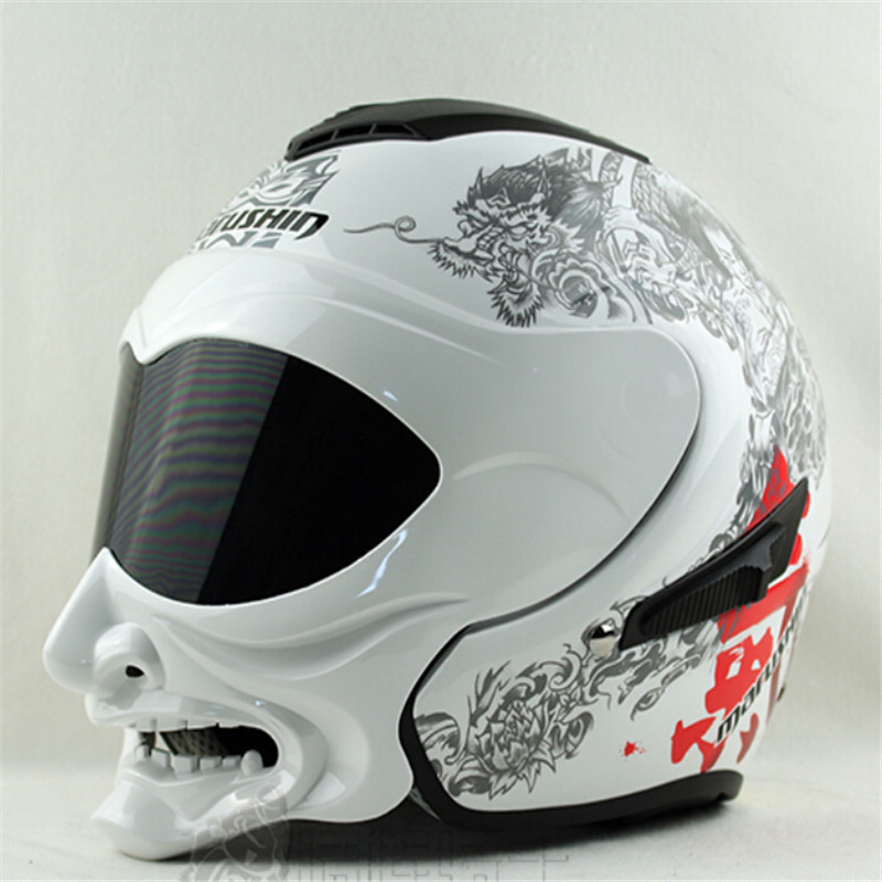 Marushin C609 casque intégral double lentille face ouverte moto rcycle casque vintage moto casco capacete casque de course moto cross casques