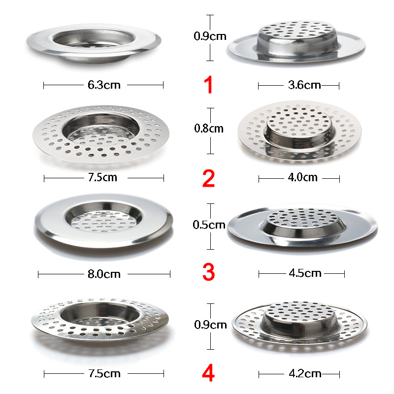 New Convenient Kitchen Sink Strainer Stainless Steel Drain Filter With Large Wide Rim Hogard FE14