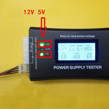 Hitam LCD Display Digital PC Komputer 20/24 Pin Power Supply Tester Checker Power Pengukuran Diagnostik Baterai Tester Alat(China)