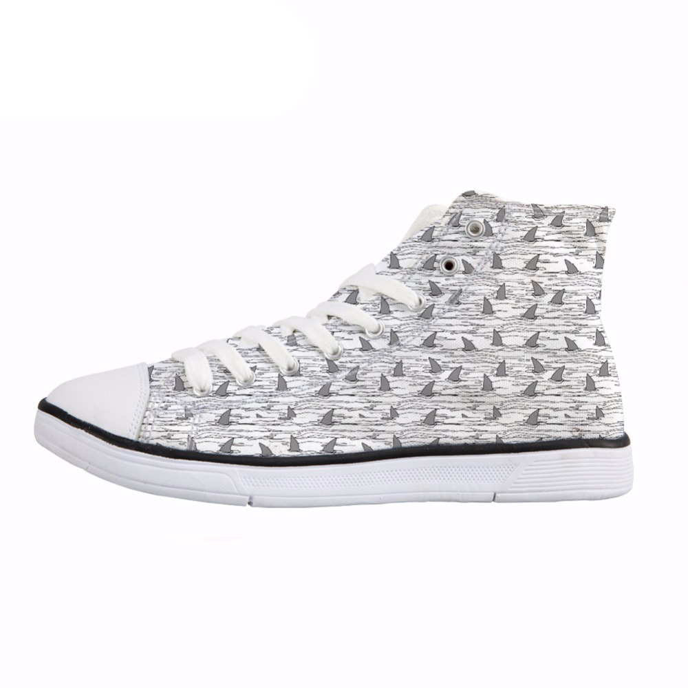 NOISYDESIGNS Sailboat Print High Top Vulcanized Shoes Fashion Leisure Canvas Shoes Teen Boys Male Sneakers Lace Up Flat Shoes