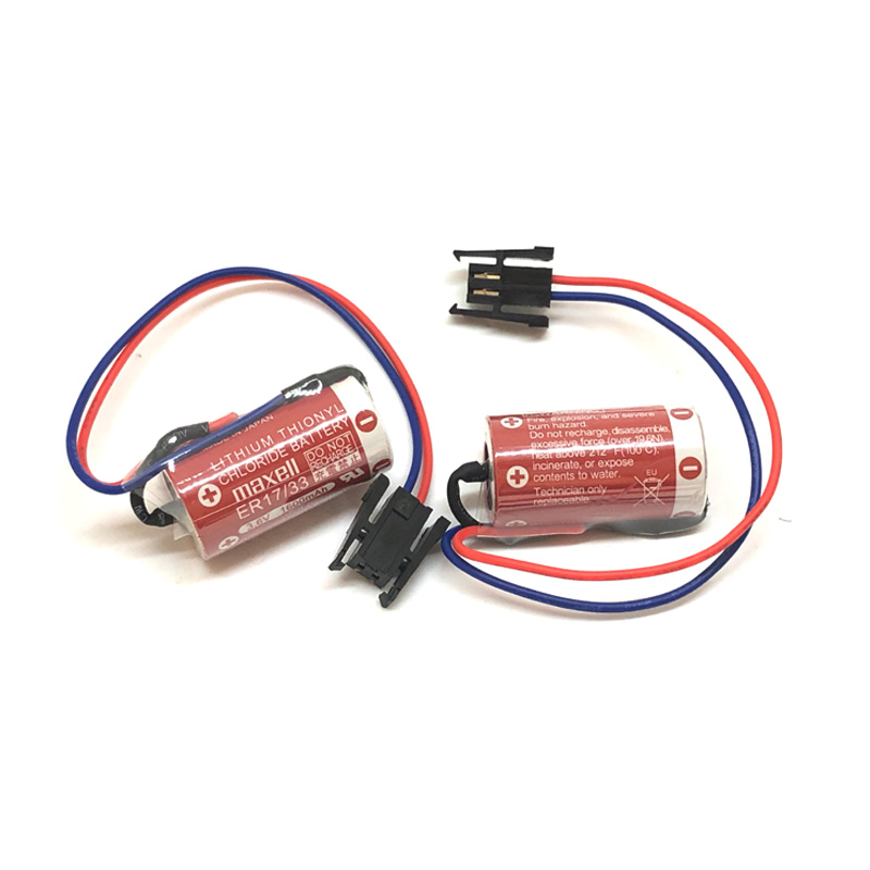 10 pcs/lot nouveau Original MAXELL ER17/33 3.6V 1600mAh PLC contrôle industriel Batteries au Lithium avec prise noire (ER17/33)